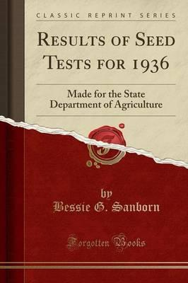 Results of Seed Tests for 1936