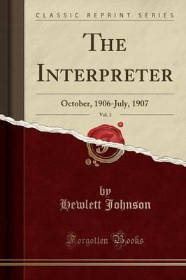 The Interpreter, Vol. 3