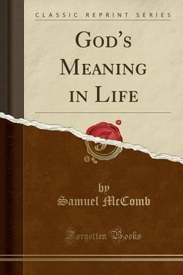 God's Meaning in Life (Classic Reprint)