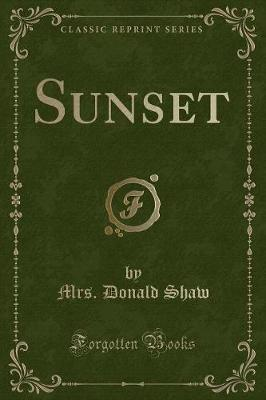 Sunset (Classic Reprint)
