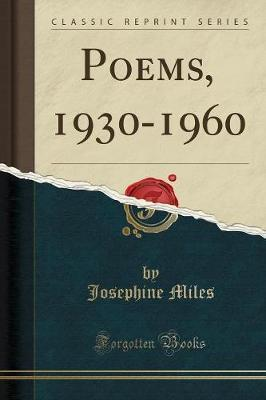 Poems, 1930-1960 (Classic Reprint)
