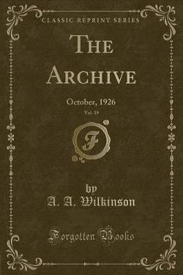 The Archive, Vol. 39