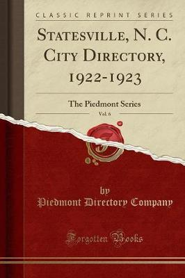 Statesville, N. C. City Directory, 1922-1923, Vol. 6