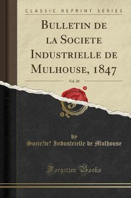 Bulletin de la Societe Industrielle de Mulhouse, 1847, Vol. 20 (Classic Reprint)