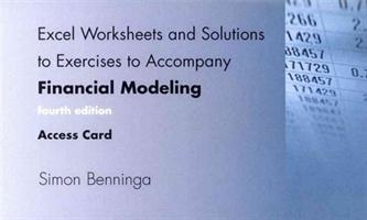 Excel Worksheets and Solutions to Exercises to Accompany Financial Modeling, fourth edition, Access Code