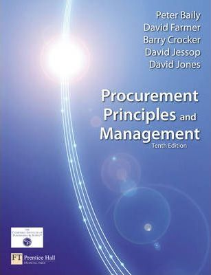 Procurement, Principles & Management