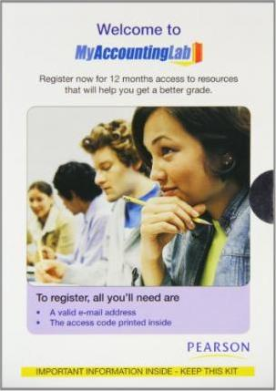 MyAccountingLab and MyAccountingLab Powered by CourseCompass (EMA) Student Access Kit (12 Months)