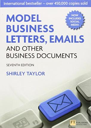 Model Business Letters, Emails and Other Business Documents Shirley Taylor pdf