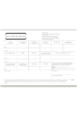 Banns of Marriage Application MB 1: Pack of 50 Forms