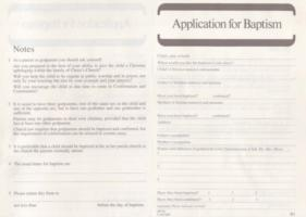 Application for Baptism: Form B1: Pack of 50
