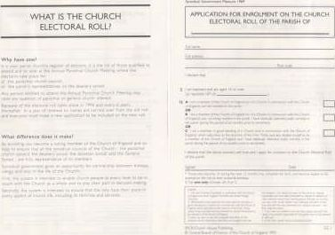 Synodical Government Forms: Application for Enrolment on the Electoral Roll (Sg 1)