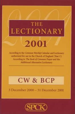 Common Worship/Book of Common Prayer Lectionary 2001