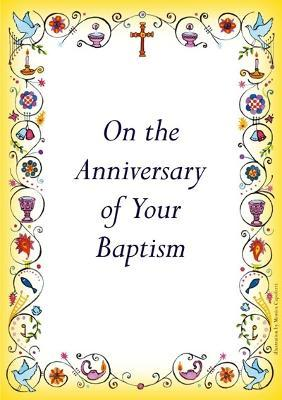 Anniversary of Baptism Card