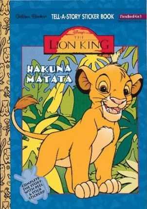 Tell a Story Sticker Lion King