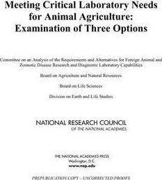 Meeting Critical Laboratory Needs for Animal Agriculture