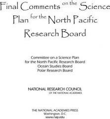 Final Comments on the Science Plan for the North Pacific Research Board