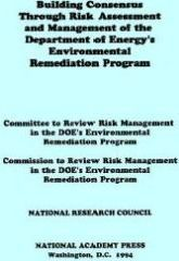 Building Consensus Through Risk Assessment and Management of the Department of Energy's Environmental Remediation Program