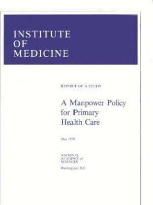 A Manpower Policy for Primary Health Care