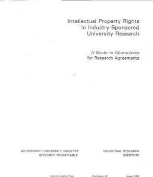 Intellectual Property Rights in Industry-Sponsored University Research