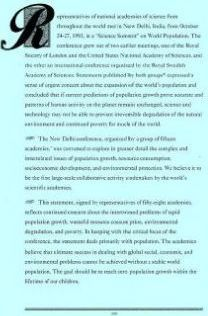 A Joint Statement by Fifty-Eight of the World's Scientific Academies