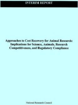 Approaches to Cost Recovery for Animal Research