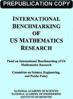 International Benchmarking of Us Mathematics Research