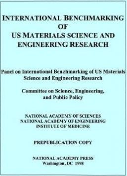 International Benchmarking of Us Materials Science and Engineering Research