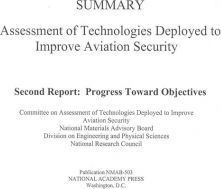 Summary Assessment of Technologies Deployed to Improve Aviation Security