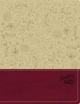 KJV, Beautiful Word Bible, Leathersoft, Tan/Pink, Red Letter Edition  500 Full-Color Illustrated Verses