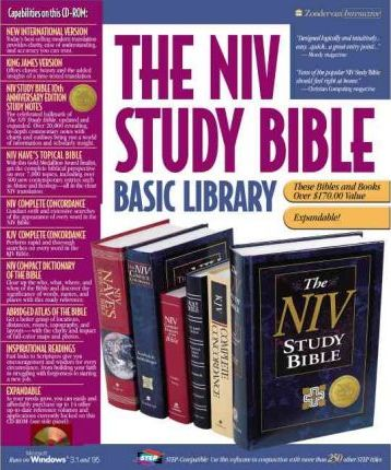 The Niv Study Bible Basic Library for Windows