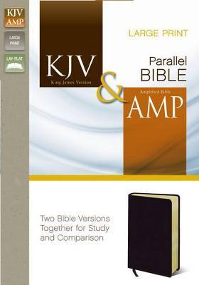 KJV, Amplified, Parallel Bible, Large Print, Bonded Leather, Black
