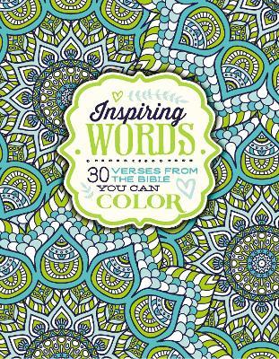 Inspiring Words Coloring Book Cover Image