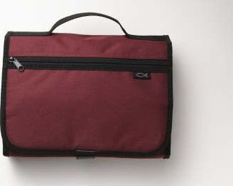 Tri-Fold Organizer Cranberry LG Book and Bible Cover