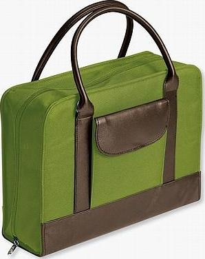 Bible Study Organizer Chartreuse with Leather-Look Accents