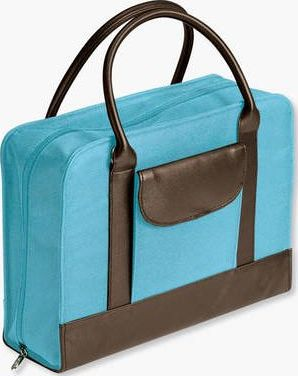 Bible Study Organizer Aqua with Leather-Look Accents