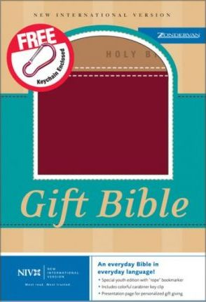 niv gift bible leathersoft brown red letter edition