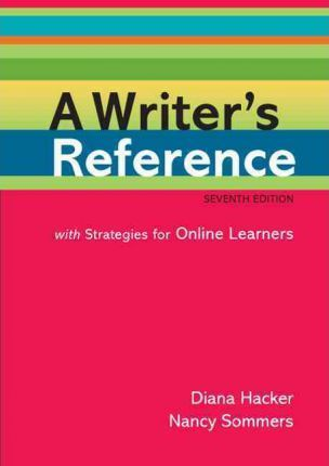 A Writer's Reference with Strategies for Online Learners