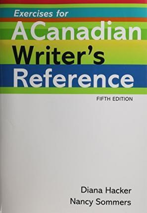Canadian Writers Reference 5th Edition Ex University Nancy