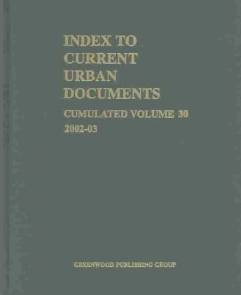 Index to Current Urban Documents