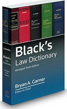 Black's Law Dictionary 10th Abridged