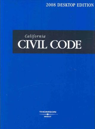 California Civil Code 2008