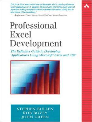 Professional Excel Development : Rob Bovey : 9780321262509