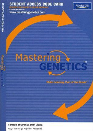 MasteringGenetics -- Standalone Access Card -- for Concepts of Genetics