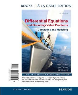 Differential equations and boundary value problems david t calvis differential equations and boundary value problems computing and modeling fandeluxe Images