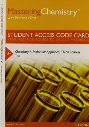 Masteringchemistry With Pearson Etext Standalone Access Card