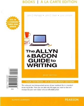 The Allyn & Bacon Guide to Writing Brief Edition