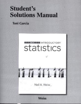Student solutions manual for introductory statistics neil a weiss student solutions manual for introductory statistics fandeluxe Images