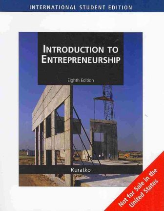 Introduction to entrepreneurship donald f kuratko 9780324590869 fandeluxe Choice Image