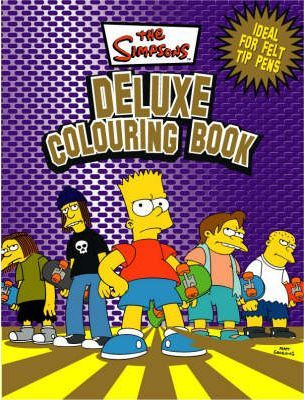 Simpsons Deluxe Colouring Book