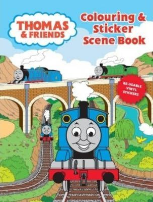 Colouring and Sticker Scene Book